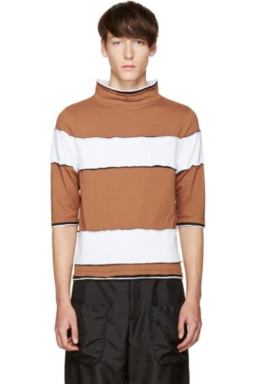 Telfar - Brown Striped T-Shirt