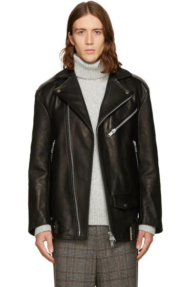 CMMN SWDN - Black Oversized Biker Jacket