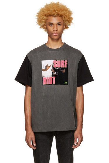 Noon Goons - SSENSE Exclusive Black 'Surf Riot' T-Shirt