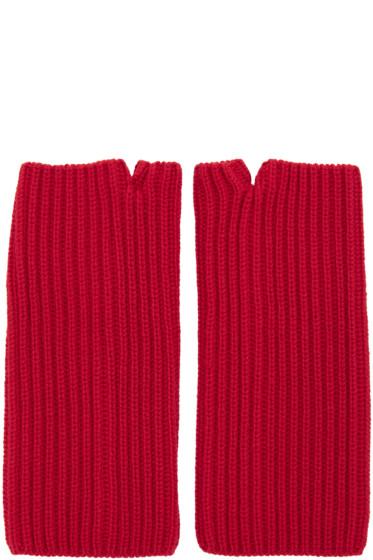 Hyke - Red Wool Wrist Warmers