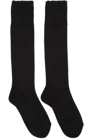 Hyke - Black Knit Socks