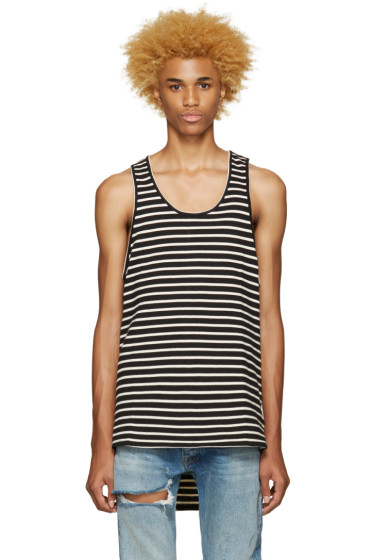 Fear of God - SSENSE Exclusive Black & Off-White Striped Top