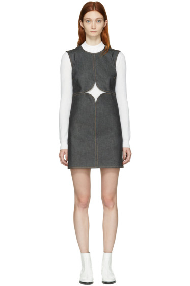 Courrèges - Indigo Denim Cut-Out Dress