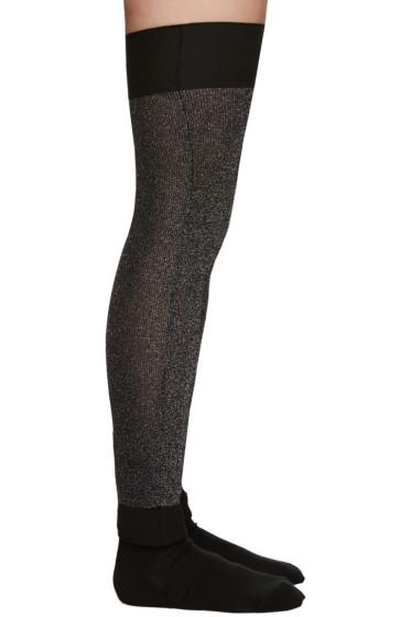 Sara Lanzi - Silver & Black Lurex Leg Warmers