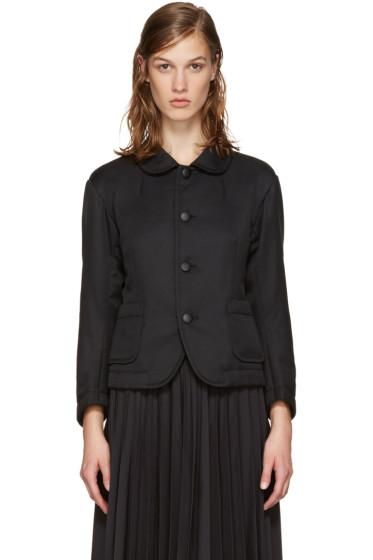 Tricot Comme des Garçons - Black Round Collar Blazer