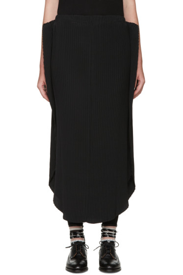 Issey Miyake - Black Pleated Solid Earth Skirt