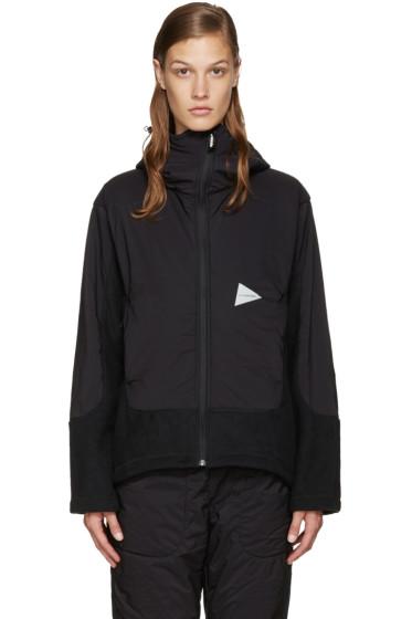 and Wander - Black Twill Fleece Jacket