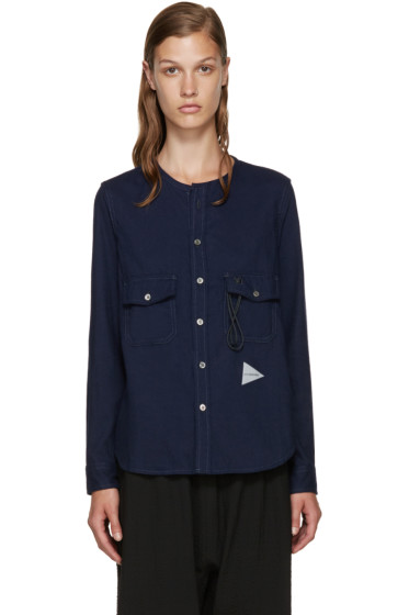and Wander - Navy Flannel Shirt