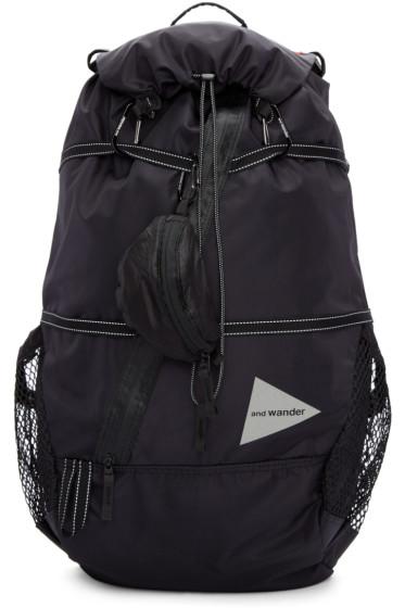 and Wander - Black Nylon 40L Backpack
