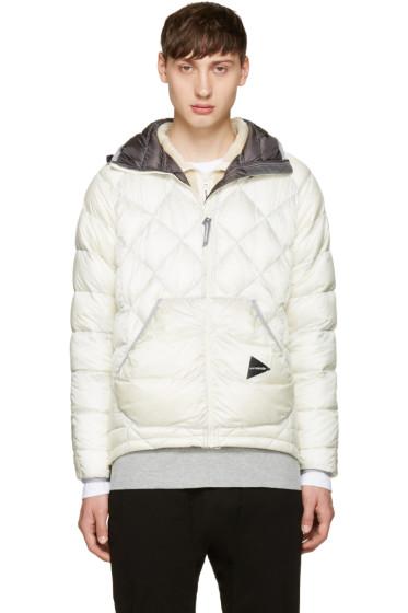 and Wander - Off-White Diamond Stitch Down Jacket