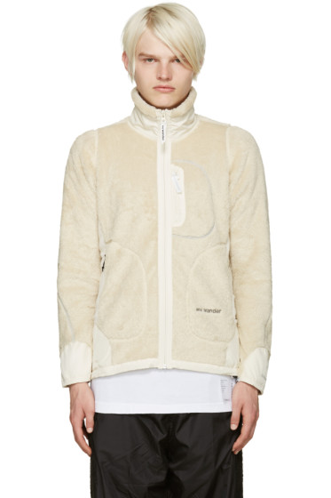 and Wander - Off-White Fleece Jacket