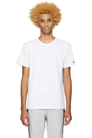 Champion Reverse Weave - White Heavy Jersey T-Shirt