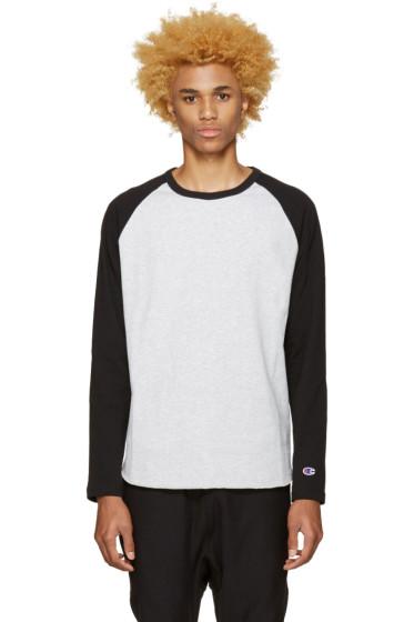 Champion Reverse Weave - Grey Heavy Jersey Raglan T-Shirt