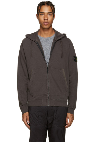 Stone Island - Grey Zip-Up Hoodie