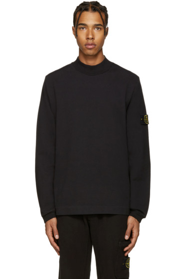 Stone Island - Black Mock Neck Pullover