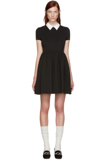 Miu Miu - Black Contrast Collar Dress