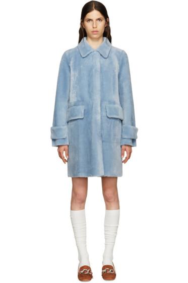 Miu Miu - Blue Shearling Coat