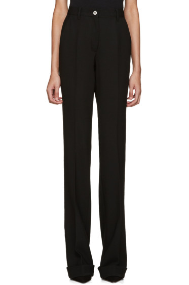 Miu Miu - Black Wool Flared Trousers