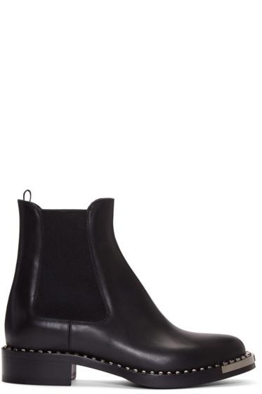 Miu Miu - Black Leather Chelsea Boots