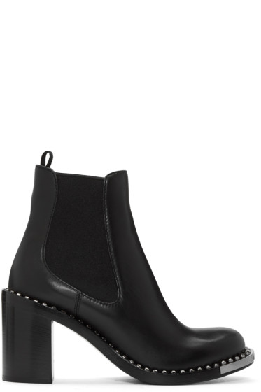 Miu Miu - Black Studded Boots