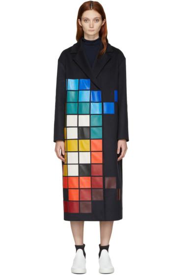 Anya Hindmarch - Navy Pixelated Coat