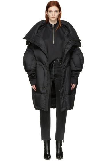 Chen Peng - Black Oversized Puffer Jacket