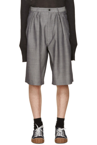 Bless - Grey Jacquard Pleated Shorts