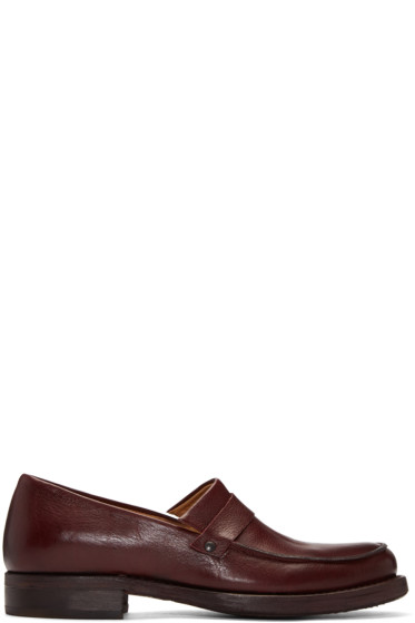 Cherevichkiotvichki - SSENSE Exclusive Burgundy Black Rapid Loafers