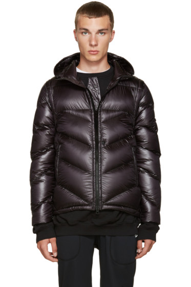 Stone Island Shadow Project - Black Hooded Down Jacket