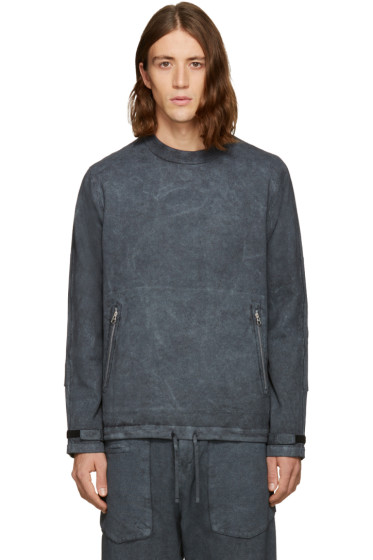 Stone Island Shadow Project - Grey Zippered Pocket Pullover