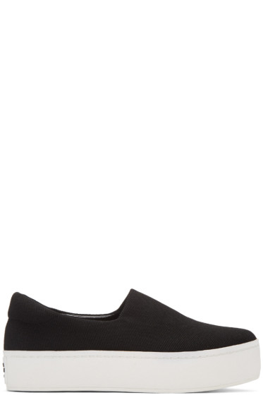 Opening Ceremony - Black Classic Platform Slip-On Sneakers