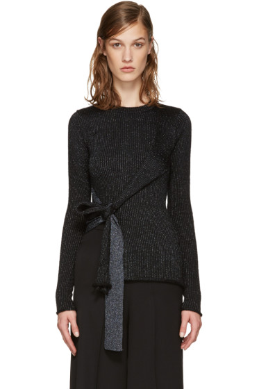 3.1 Phillip Lim - Black Tie-Up Pullover