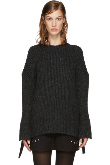3.1 Phillip Lim - Grey Eyelet Sweater