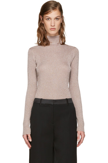 3.1 Phillip Lim - Pink Lurex Turtleneck