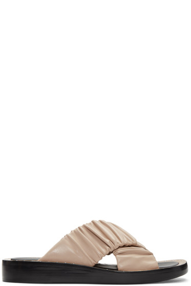 3.1 Phillip Lim - Beige Ruched Sandals