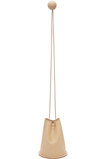 Building Block - Beige Disc Bucket Bag