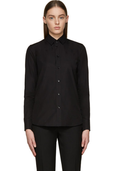 Saint Laurent - Black Poplin Shirt