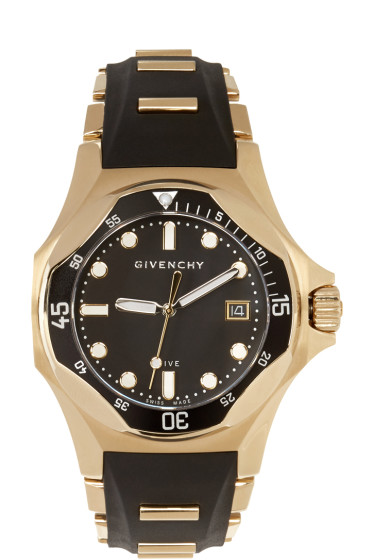 Givenchy - Black & Gold Five Shark Watch