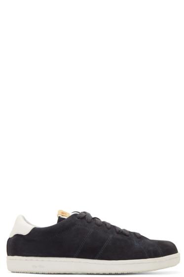 Visvim - Navy Foley Folk Sneakers