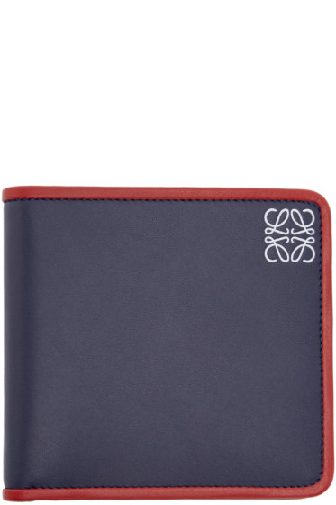Loewe - Navy Leather Bifold Wallet