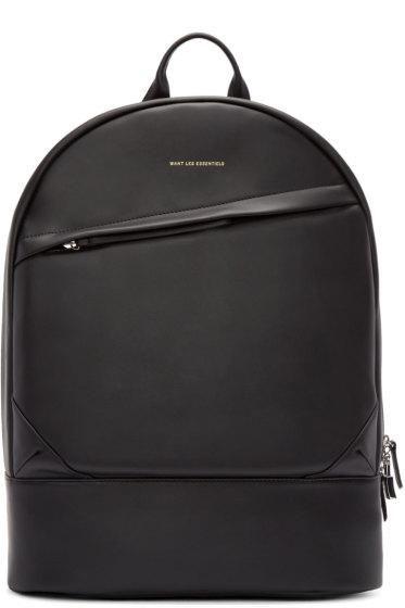 Want Les Essentiels - Black Leather Kastrup Backpack
