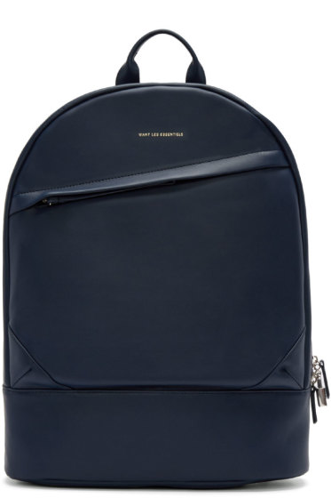 Want Les Essentiels - Navy Leather Kastrup Backpack