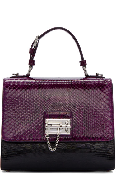 Dolce & Gabbana - Black & Purple Python Monica Bag