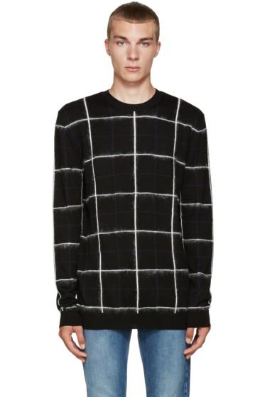 McQ Alexander Mcqueen - Black Grid Sweater