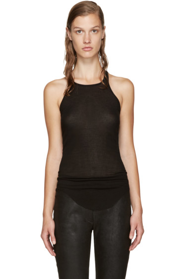 Rick Owens - Black Ribbed Tank Top