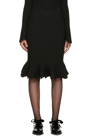 Lanvin - Black Ribbed Skirt