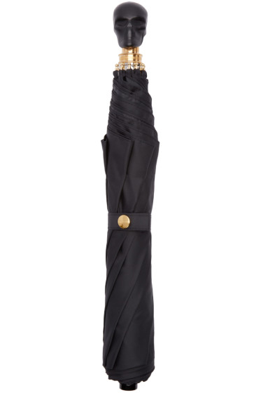 Alexander McQueen - Black Leather Skull Umbrella