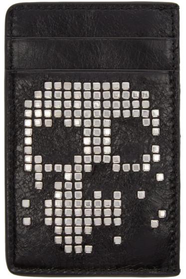 Alexander McQueen - Black Studded Skull Card Holder