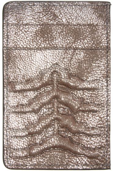 Alexander McQueen - Silver Ribcage Card Holder