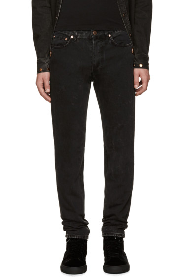 Givenchy - Black Washed Studded Jeans